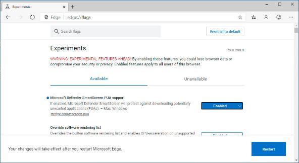 В Microsoft Edge Canary появилась функция блокировки нежелательного ПО
