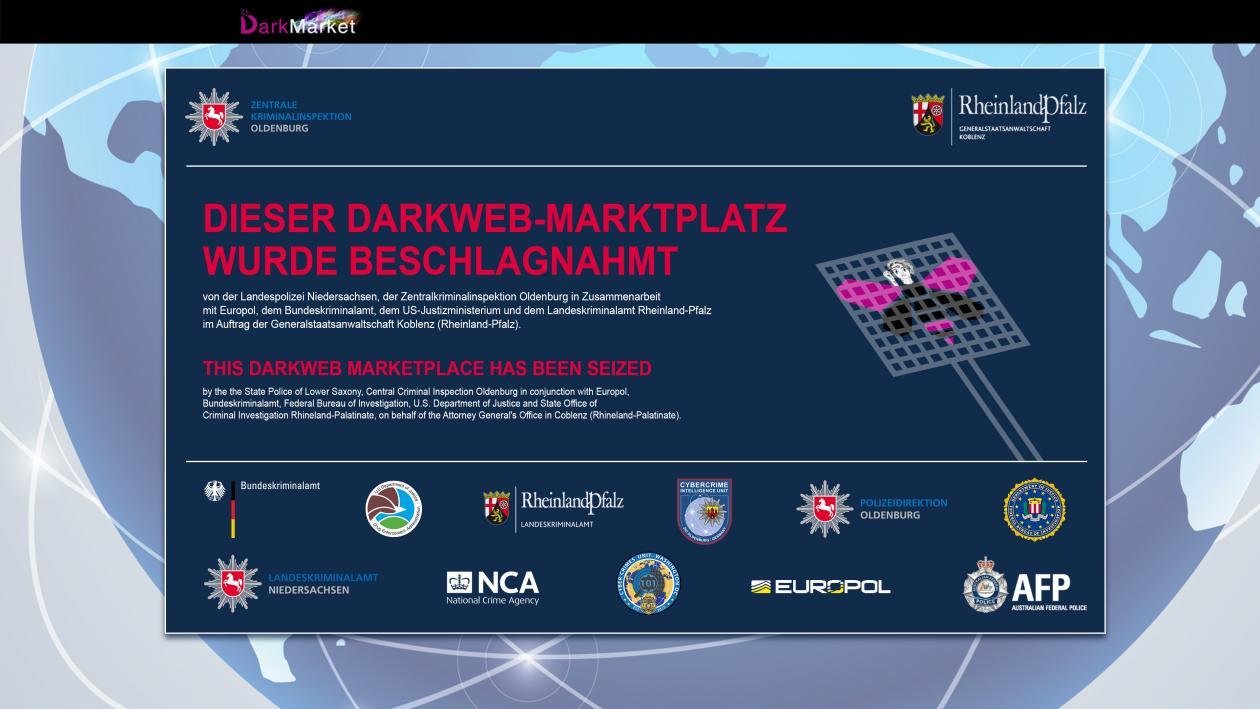 Отключен крупнейший подпольный рынок даркнета DarkMarket