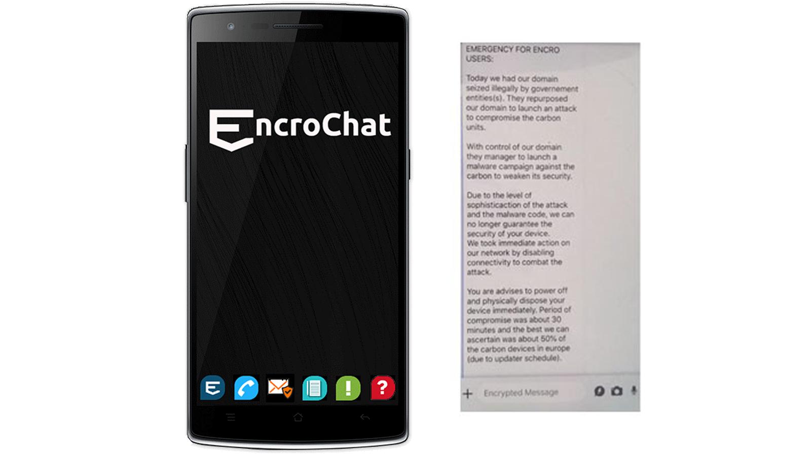 Правоохранители отключили зашифрованный сервис для общения EncroChat