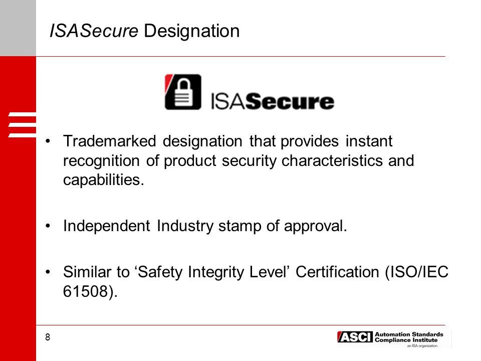 OPAF и ISA заключили соглашение об использовании ISASecure