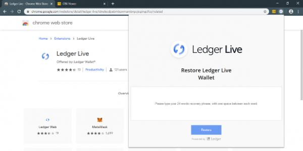 Вредоносное расширение для Chrome обчищает кошельки Ledger
