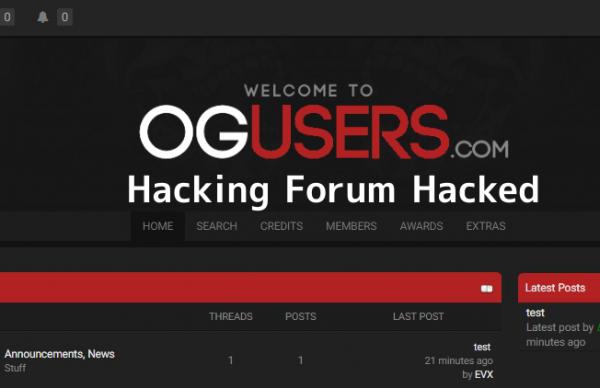 Хакерский форум OGusers стал жертвой взлома