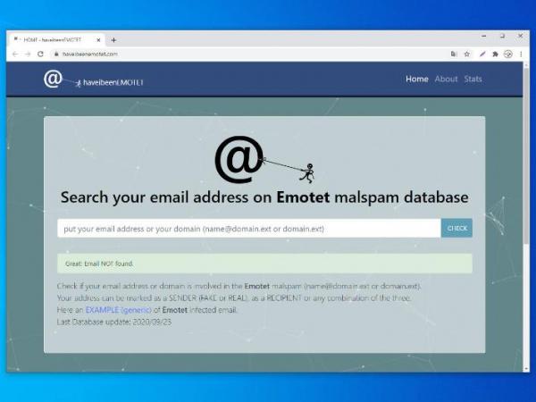 Новый сервис позволяет проверить наличие своего адреса в кампаниях Emotet