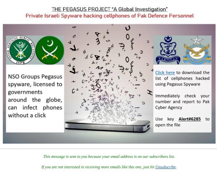Тема шпионского ПО Pegasus используется киберпреступниками в фишинговых кампаниях