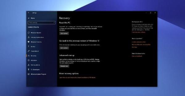 В Windows 10 появится функция восстановления системы через облако