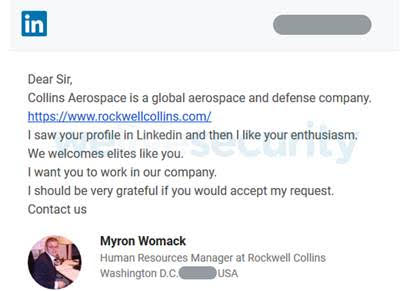 ESET: киберпреступники использовали LinkedIn для атаки на аэрокосмические и военные учреждения