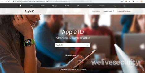 ESET обнаружила фишинговую атаку на пользователей Apple